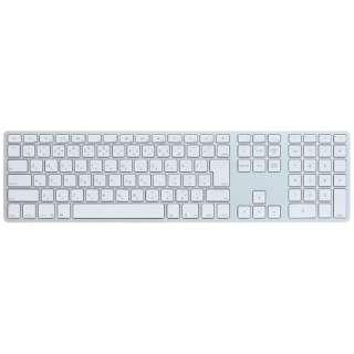 【スマホ/タブレット対応】 ワイヤレスキーボード [Bluetooth・Android/IOS/Mac] Matias Wireless Aluminum Keyboard Silver 日本語配列 FK418BTS-JP