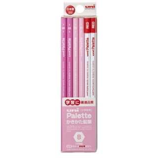 [鉛筆] ユニパレット ユニスター パステルピンク+赤鉛筆 (硬度:B) 1ダース K5564B