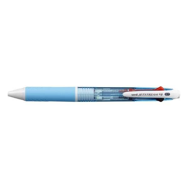[油性ボールペン] ジェットストリーム 4色ボールペン 水色 (ボール径:0.7mm、インク色:黒・赤・青・緑) SXE450007.8