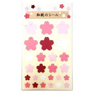 和紙のシール 桜型 WS-1-1