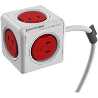 マルチ電源タップ  Power Cube Extended 3m レッド 4394/JPEXPC