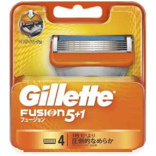 Gillette(ジレット) フュージョン 5+1 替刃 4個入 〔ひげそり〕