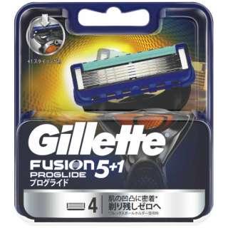 Gillette(ジレット) フュージョン 5+1 プログライド フレックスボール マニュアル 替刃 4個入 〔ひげそり〕