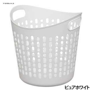 ソフトバスケット Lサイズ 穴あり(ピュアホワイト) SBK-460