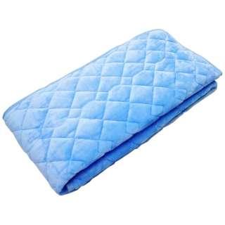 【敷パッド】フランネルカラー セミダブルサイズ(120×205cm/ブルー)
