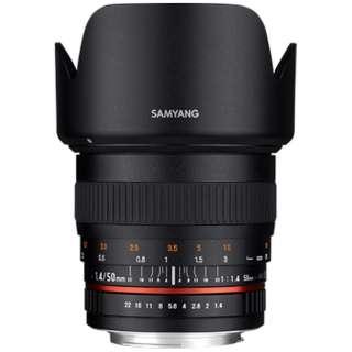 カメラレンズ 50mm F1.4 AS UMC フルサイズ対応 ブラック [ニコンF /単焦点レンズ]