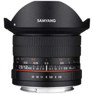 カメラレンズ 12mm F2.8 ED AS NCS Fisheye ブラック [キヤノンEF-M /単焦点レンズ]