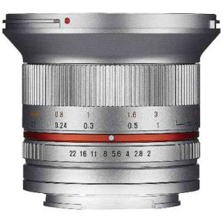 カメラレンズ 12mm F2.0 NCS CS APS-C用 シルバー [キヤノンEF-M /単焦点レンズ]
