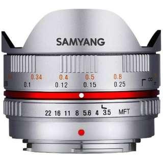 カメラレンズ 7.5mm3.5 UMC Fish-eye シルバー [マイクロフォーサーズ /単焦点レンズ]