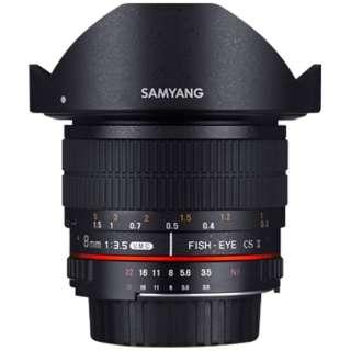 カメラレンズ 8mmF3.5 UMC Fisheye CSII APS-C用 ブラック [キヤノンEF /単焦点レンズ]