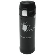 Penguin stainless steel mug bottle (black) of Suica 8975