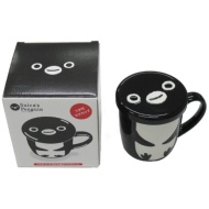 Mug cup 8979 with penguin cover of Suica