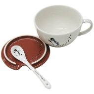 Penguin mug cup (with cover / spoon) of Suica