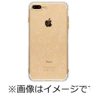 iPhone 7 Plus用 ソフトTPUケース ペイズリー Highend Berry