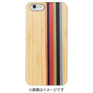 iPhone 7用 ナチュラルウッドハードケース ストライプ/ホワイトバンブー