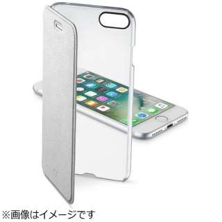 iPhone 7用 手帳型 CLEAR BOOK シルバー Cellularline CLEARBOOKIPH747S