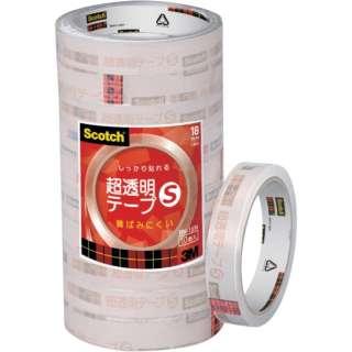 3M スコッチ 超透明テープS 18mmX35m 10巻入シュリンクパック BK-18N