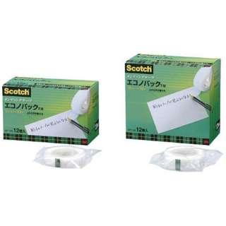 3M メンディングテープエコノパック 12mmX30m 12巻入 巻芯径25mm MP-12S