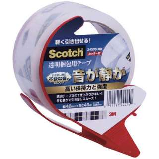 3M スコッチ 透明梱包用テープ 48mmX34m カッター付 3450S-RD