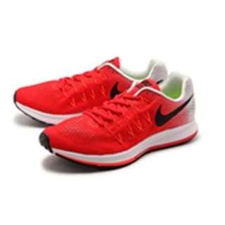 Men s running shoes Nike air zoom Pegasus 33 (28.0cm  action red X black  pure Platinum X total crimson X white) 831352-600 de397811e