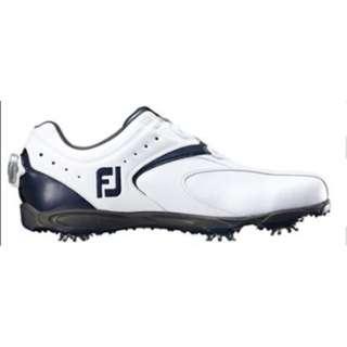 メンズ ゴルフシューズ EXL Boa(26.5cm/ホワイト+ネイビー)#45144【靴幅:2E】
