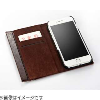 311d759d8d iPhone 7用 SideKick 2トーンフリップノートケース ファブリック ネイビークロスライン Simplism TR-