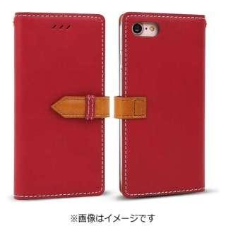 iPhone 7用 手帳型 Snap レッド Wetherby I7N06-16B769-06