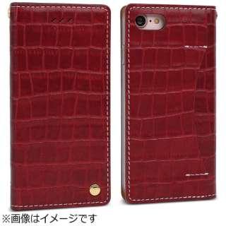 iPhone 7用 手帳型 Premium Croco レッド Wetherby I7N06-16B767-06