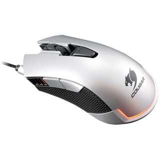 CGR-WOMS-530 ゲーミングマウス 530M シルバー [光学式 /6ボタン /USB /有線]