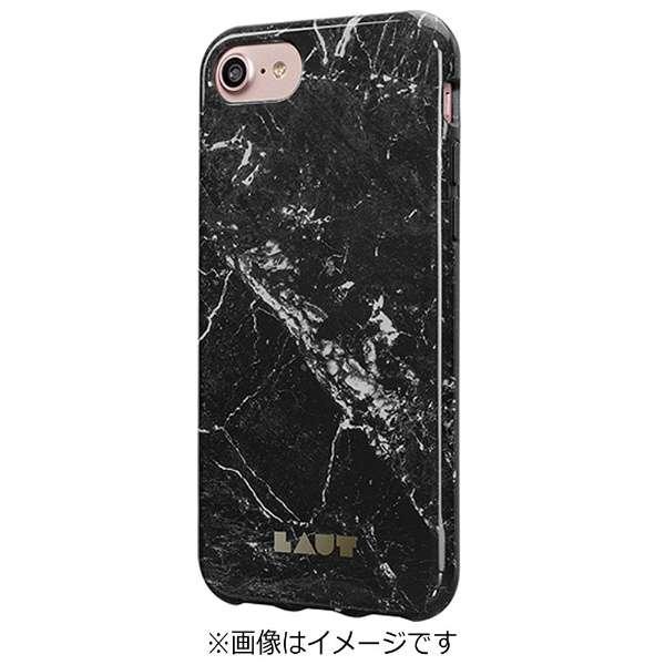 iPhone 7用 LAUT HUEX ELEMENTS マーブルブラック LAUTIP7HXEMB