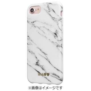iPhone 7用 LAUT HUEX ELEMENTS マーブルホワイト LAUTIP7HXEMW