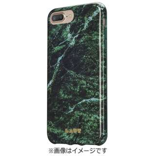 iPhone 7 Plus用 LAUT HUEX ELEMENTS マーブルエメラルド LAUTIP7PHXEMGN