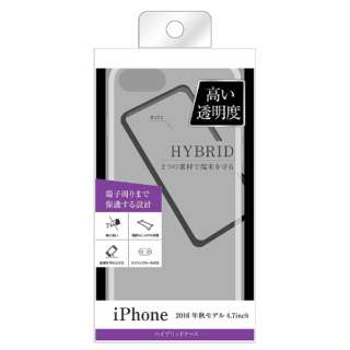 iPhone 7用 ハイブリッドケース クリア BKS-P12CC2-C