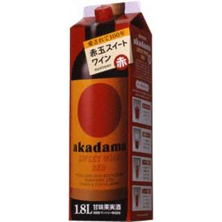 [国産ワイン] 赤玉スイートワイン 赤パック 1800ml 【赤ワイン】