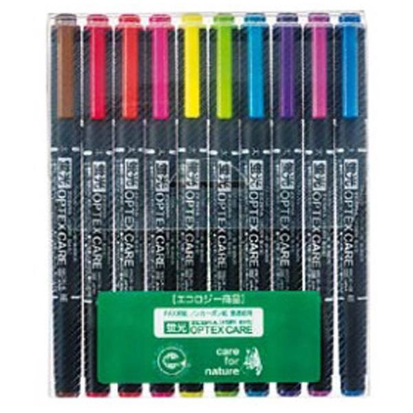 [蛍光ペン] 蛍光オプテックス ケア 10色シース WKCR1-10C