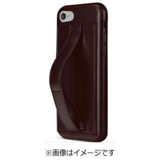 iPhone 7用 Finger Grip ハンドル付きケース ダークブラウン TUN-PH-000503