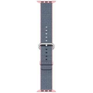 Apple Watch 42mm 用交換バンド ライトピンク/ミッドナイトブルーウーブンナイロン MNKG2FE/A