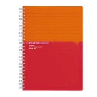 [ノート] ツインリングノート カラータグ Bi-COLOR (普通横罫・A5・90枚) オレンジ CTス-C30YR