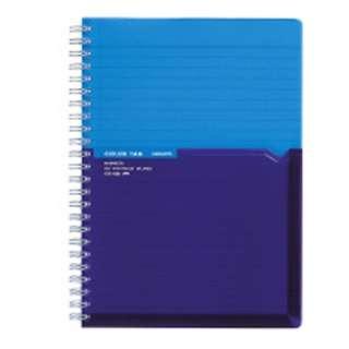 [ノート] ツインリングノート カラータグ Bi-COLOR (普通横罫・A5・90枚) ブルー CTス-C30B