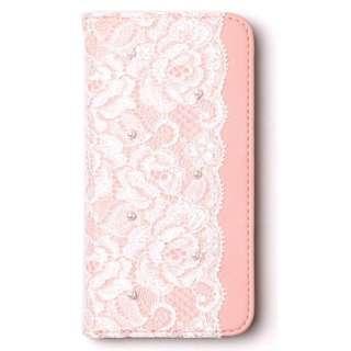 iPhone 7用 手帳型 Lace Diary ピンク abbi AB8315i7