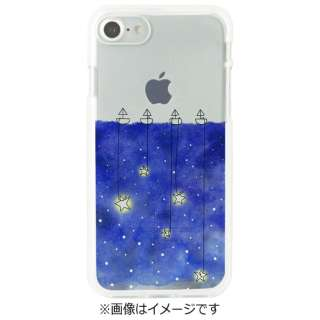 iPhone 7用 ソフトクリアケース 星取り Dparks DS8285i7