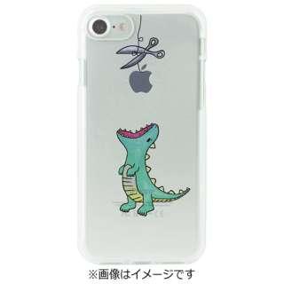 iPhone 7用 ソフトクリアケース はらぺこザウルス グリーン Dparks DS8274i7