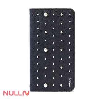 iPhone 7用 手帳型 NULL FASHION STUTZ CASE ブラック BLNL-012-BK