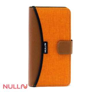iPhone 7用 手帳型 NULL FASHION WALLET CASE オレンジ BLNL-010-OR
