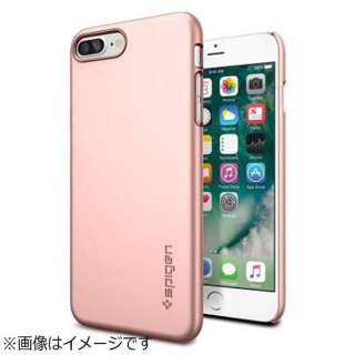 iPhone 7 Plus用 Thin Fit ローズゴールド 043CS20474