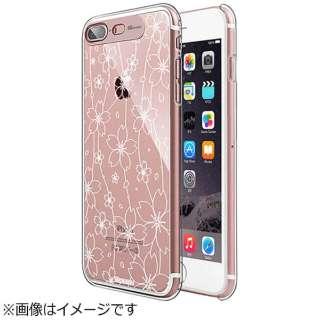 iPhone 7 Plus用 Clear Hard イルミネーションケース フラワーローズゴールド SG SG8787i7P