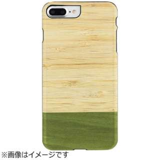 iPhone 7 Plus用 天然木ケース Bamboo Forest  ブラックフレーム Man&Wood I8083i7P
