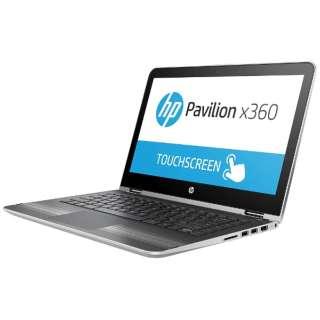 X5Q07PA#ABJ ノートパソコン Pavilion 13-u049TU x360 ナチュラルシルバー [13.3型 /intel Core i3 /HDD:500GB /メモリ:4GB /2016年秋冬モデル]