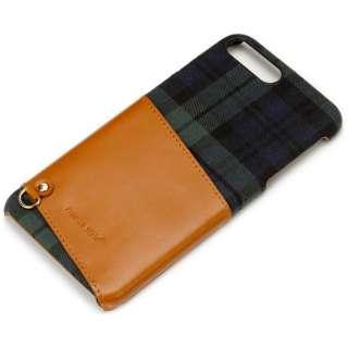 iPhone 7 Plus用 カードポケット付き ハードケース グリーン PG-16LCA01GR