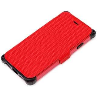 iPhone 7用 手帳型 タフフリップカバー レッド PG-16MFP31RD